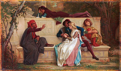 Alexandre Cabanel Painting - Florentine Poet by Alexandre Cabanel
