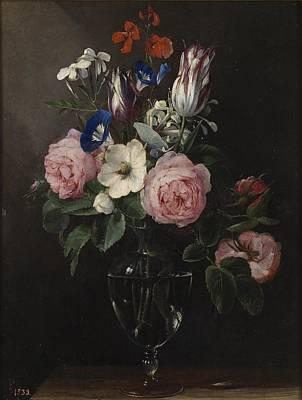 Viejo Painting - Florero Flowers by MotionAge Designs