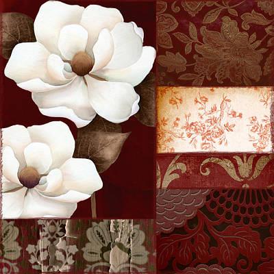 Flores Blancas Square II Art Print