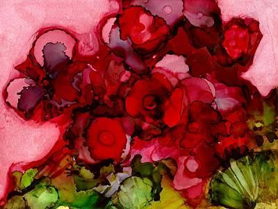 Joy Dorr Painting - Flores Rojas by Joy Dorr