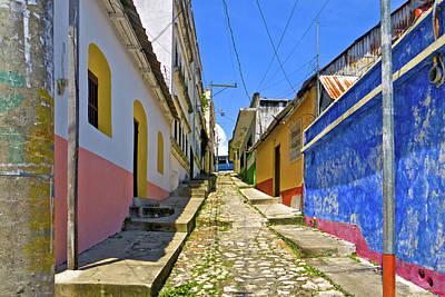 Photograph - Flores Street Antigua Guatemala by Marius Sipa