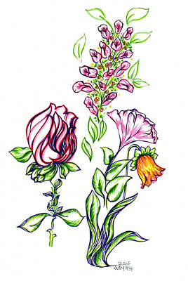 Florets Art Print by Judith Herbert
