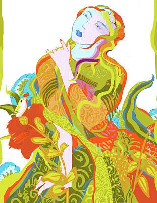 Digital Art - Florid Birdcall by Judith Barath