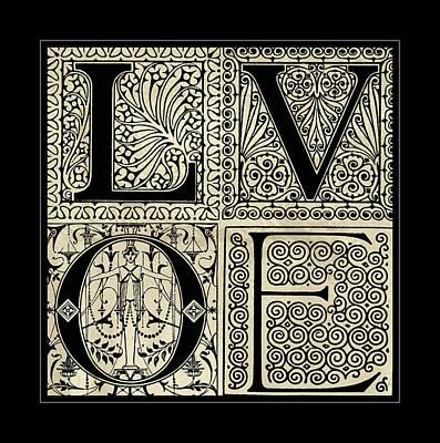 Digital Art - Florid Ornamental Grunge Love by Georgiana Romanovna