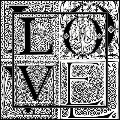 Digital Art - Florid Ornamental Love Art  by Georgiana Romanovna