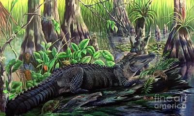 Florida Alligator- Beast Amongst The Beauty Original by Daniel Butler