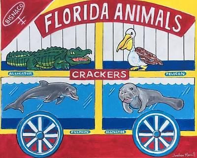 Florida Animal Crackers Art Print