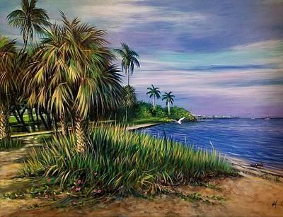 Punta Gorda Painting - Florida Art Punta Gorda by Larry Palmer
