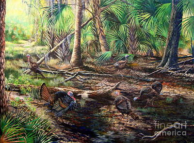 Florida Backwoods- Osceola Shadows Art Print by Daniel Butler