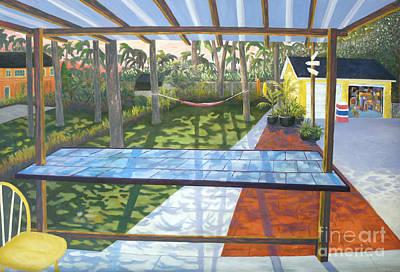 Florida Backyard Art Print by Blaine Filthaut