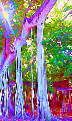 Edison Painting - Florida Banyan Tree I by Chris Andruskiewicz