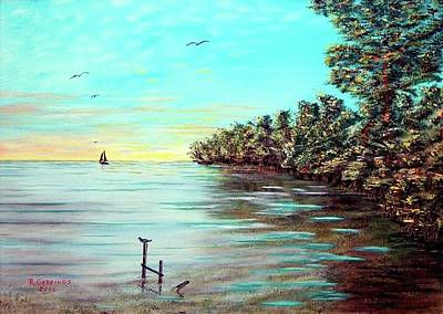 Painting - Florida Bay's Elliot Key by Riley Geddings