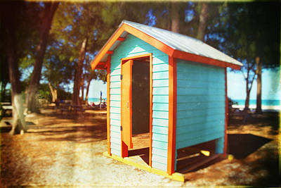 Dressing Room On The Beach In Florida Art Print