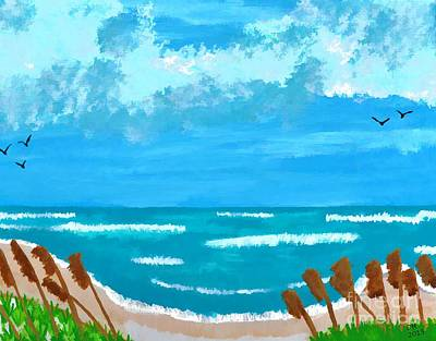 Painting - Florida Beach by D Hackett
