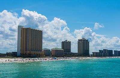 Colorful Button - Florida Beach Panama City by Shane Seymour