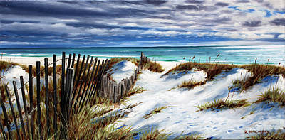 Art Print featuring the painting Florida Beach by Rick McKinney