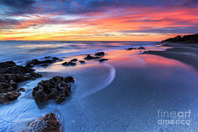 Photograph - Florida Beach Sunset 4 by Ben Graham