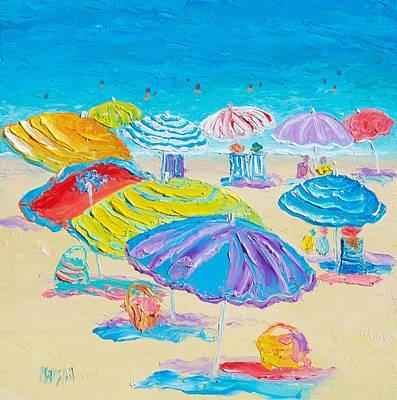 Painting - Florida Beach Umbrellas by Jan Matson