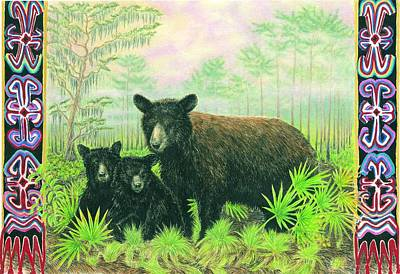 Florida Black Bears Art Print