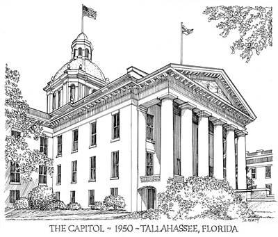 Florida Capitol 1950 Art Print