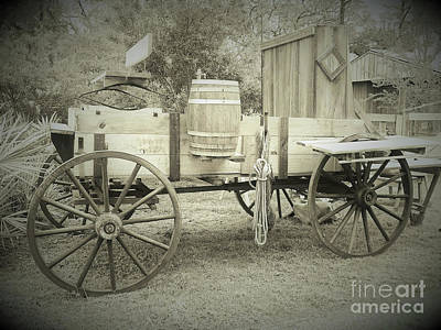 Photograph - Florida Chuck Wagon Sepia by D Hackett