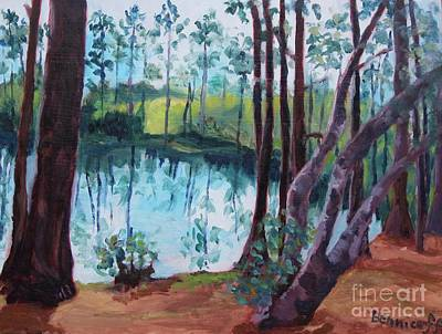 Painting - Florida Cypress Grove by Jan Bennicoff