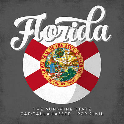 Florida State Wall Art - Digital Art - Florida Defined by Flo Karp