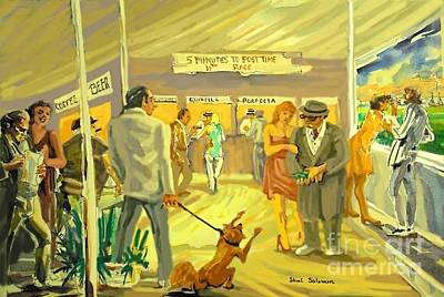 Dog Race Track Painting - Florida  Dog Track by Shirl Solomon