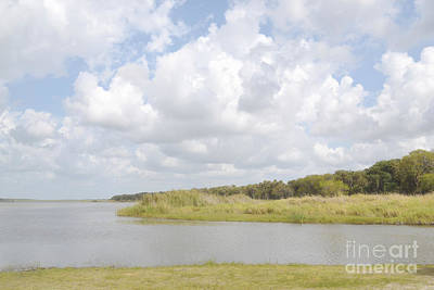 Photograph - Florida Dreamy Lake Clouds Landscape by Andrea Hazel Ihlefeld