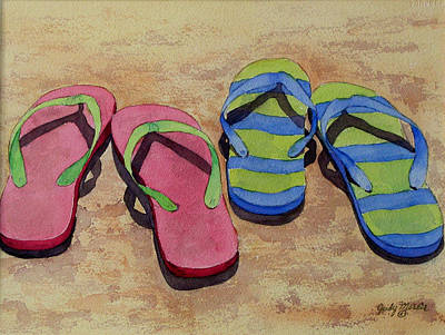 Painting - Florida Dress Shoes by Judy Mercer