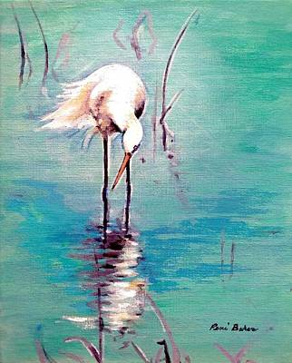 Painting - Florida Egrets 1 by Peni Baker