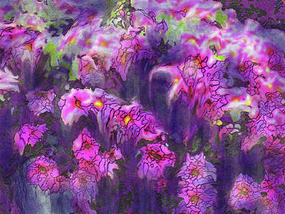 Digital Art - Florida Flowers by Ian  MacDonald