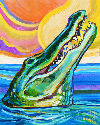 Painting - Florida Gator by Robert Phelps