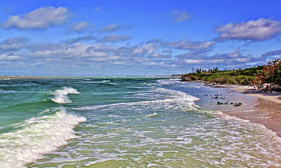 Florida Gulf Coast Beaches Art Print by HH Photography of Florida