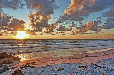 Photograph - Florida Gulf Coast Sunset by HH Photography of Florida