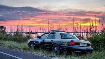 Patrol Cars Photograph - Florida Highway Patrol by JC Findley
