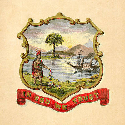 Digital Art - Florida Historical Coat Of Arms Circa 1876 by Serge Averbukh