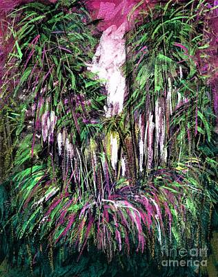 Painting - Florida In Pink And Green  by Allison Constantino