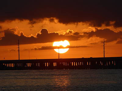 Photograph - Florida Keys - Bahia Honda Sunset by Art America Gallery Peter Potter