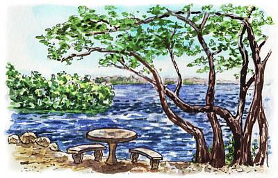 Painting - Florida Keys John Pennekamp Park Shore by Irina Sztukowski