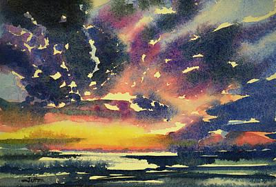 Painting - Florida Landscape Watercolor 7-3-2017 by Julianne Felton