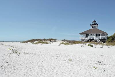 Photograph - Florida Lighthouse Beach Colors Landscape by Andrea Hazel Ihlefeld