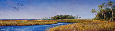 Florida Marsh In June Art Print