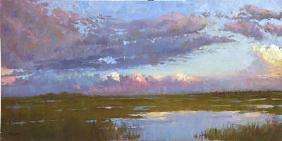 Wall Art - Painting - Florida Marsh by Miguel Malagon