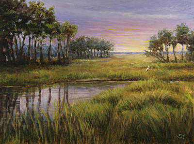 Painting - Florida Marsh Sunset by Susan Jenkins