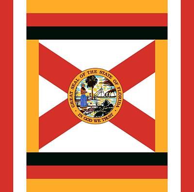 Us Flag Mixed Media - Florida by Otis Porritt