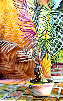 Tropical Drawing - Florida Palm Tree by Mindy Newman