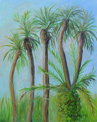 Painting - Florida Palms by Patty Weeks