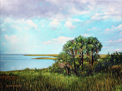 Painting - Florida Palms by Rick McKinney