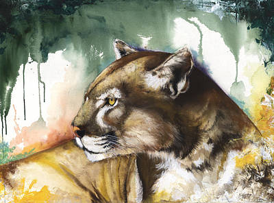 Mixed Media - Florida Panther 2 by Anthony Burks Sr